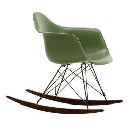 Vitra Eames RAR schommelstoel esdoorn donker onderstel