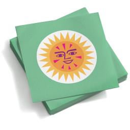 Vitra Paper Napkins La Fonda Sun servet small groen