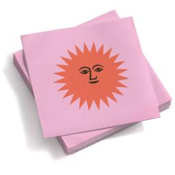 Vitra Paper Napkins La Fonda Sun servet small roze