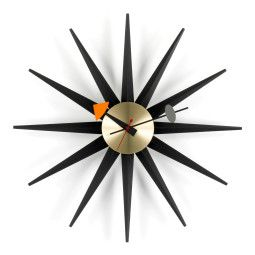 Vitra Sunburst Clock klok Black Collection