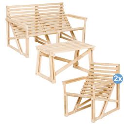 Weltevree Patio tuinset tuinbank + 2 fauteuils + bijzettafel