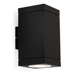 Wever Ducré Tube Carré 2.0 wandlamp GU10 zwart IP65
