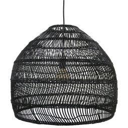 HKliving Tweedekansje - Wicker hanglamp medium zwart