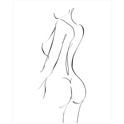 WOOOD Exclusive Female art poster wanddecoratie