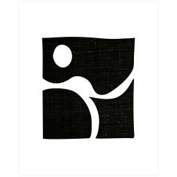 WOOOD Exclusive Simple black art poster wanddecoratie