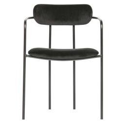 WOOOD Exclusive Ivy stoel fluweel zwart