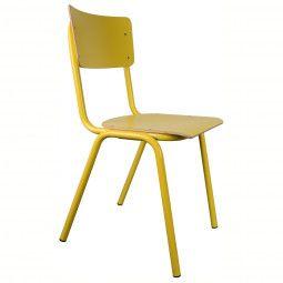 Zuiver Tweedekansje - Back to School stoel geel
