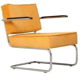 Zuiver Ridge Lounge Rib loungestoel met armleuningen
