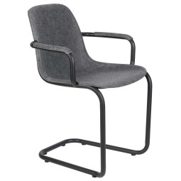 Zuiver Tweedekansje - Thirsty stoel met armleuning graphite grey