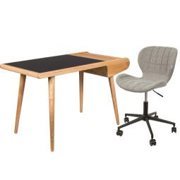 Flinders Barbier desk & OMG bureaustoel Thuiswerkplek