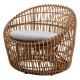 Cane-Line Nest Outdoor fauteuil rond naturel