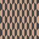 Cole & Son Petite Tile behang Charcoal Bronze